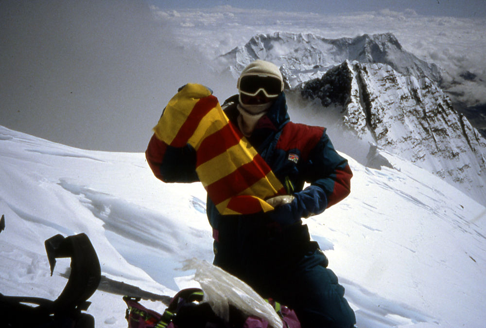 Pepe Garces en el Everest. Foto de Antonio Ubieto